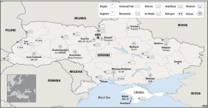 Map of the location of Ukraine's forces from IISS, as of 5 March
