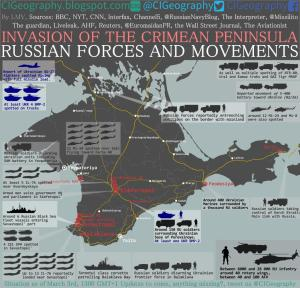 Location of Russian troops and weaponry, as of Monday, 3 March