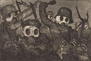 """Stormtroopers Advancing Under Gas,"" Otto Dix, 1924"